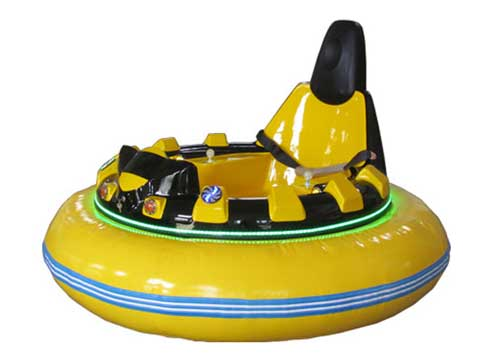Yellow Inflatable Bumper Cars