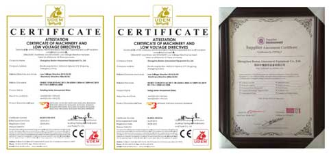 Beston Certifications