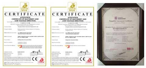 Beston Certifications