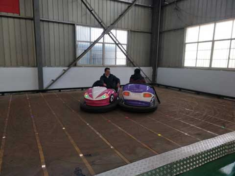 Customer Playing on Beston Electric Bumper Cars